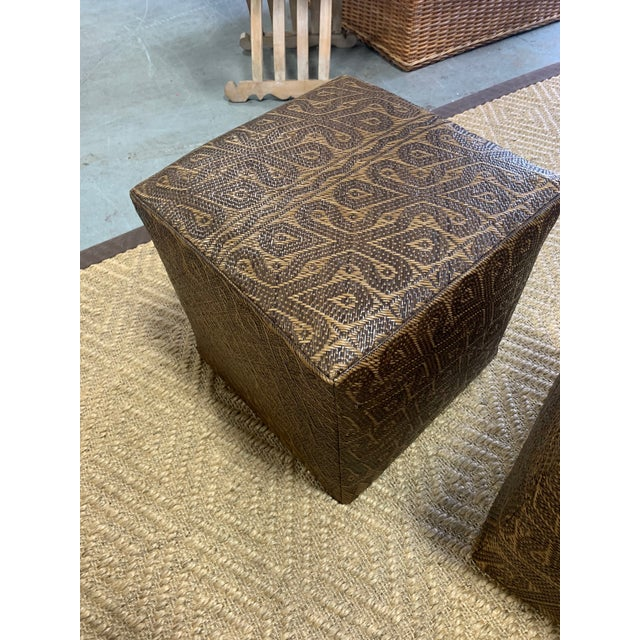 Borneo Mat Ottomans- A Pair For Sale In West Palm - Image 6 of 7