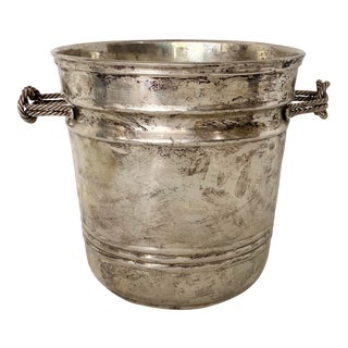 Vintage Epns Silver Champagne Ice Bucket With Knot Handles For Sale