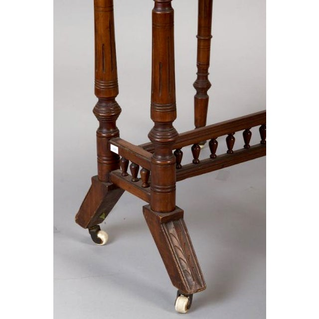 Belgian Walnut Drop-Leaf Table - Image 4 of 4