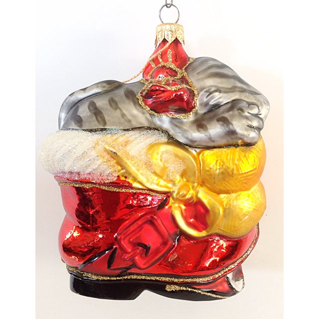 Traditional Christopher Radko Cat in Boot Christmas Ornament For Sale - Image 3 of 3