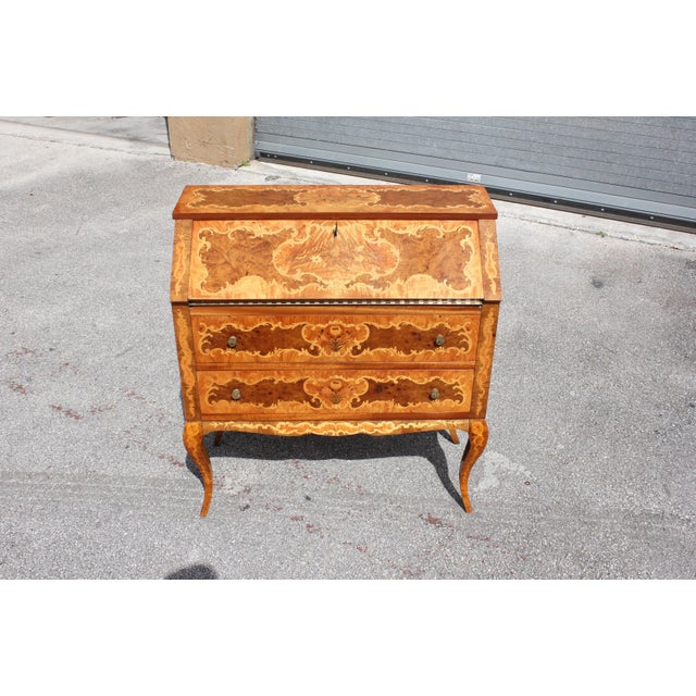 1950s Italian Louis XV Style Luxury Secretary Desk For Sale - Image 13 of 13