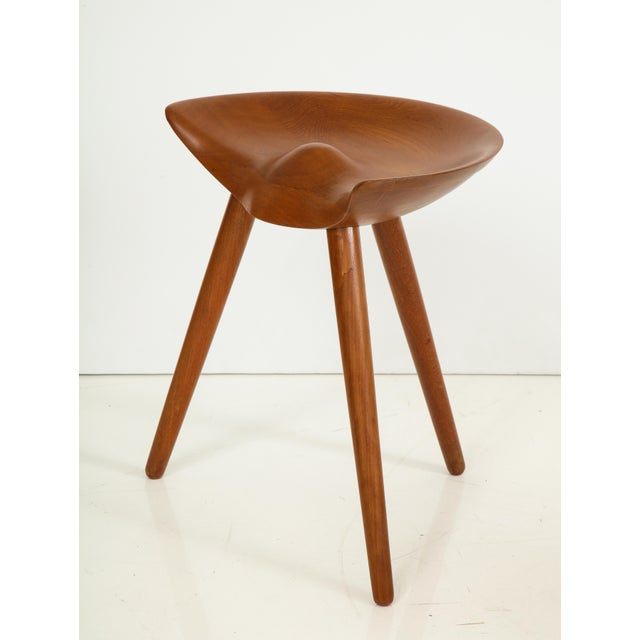 "Mogens Lassen's ""Shoemaker's Stool"" produced by Danish K. Thomsen cabinet maker designed in 1942 of solid teak. An Iconic..."