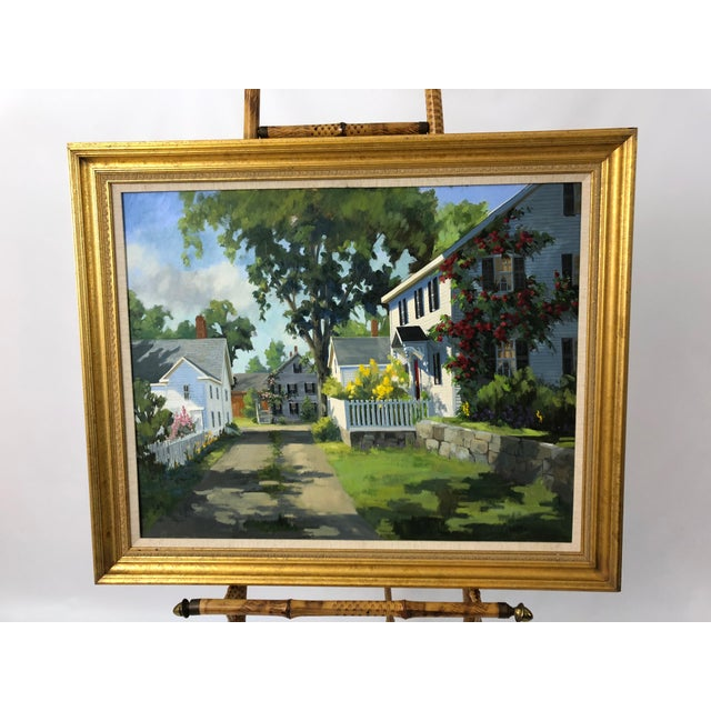 Traditional Sunny Afternoon Original Painting by Line Tutwiler For Sale - Image 11 of 11