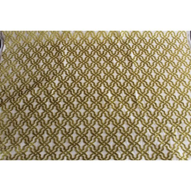 Duralee Cut Velvet Linen Fabric - 1 Yard For Sale