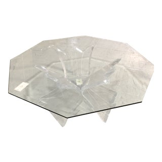 Hexagonal Lucite Coffee Table