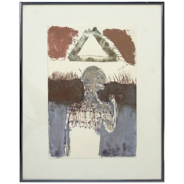 White Contemporary Framed Signed Sean Scully Aquatint Etching Signed Surrealist For Sale - Image 8 of 8