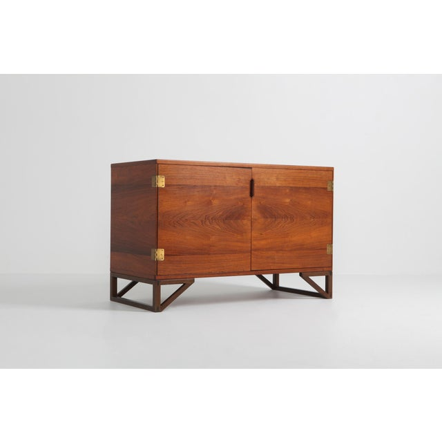 Scandinavian Modern Svend Langkilde Cabinet in Rosewood and Brass - 1950 For Sale - Image 4 of 11