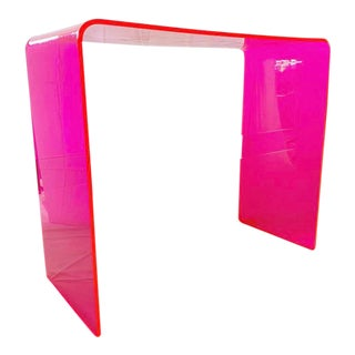 """""""The Tall Order"""" Console Table in Neon Pink For Sale"""