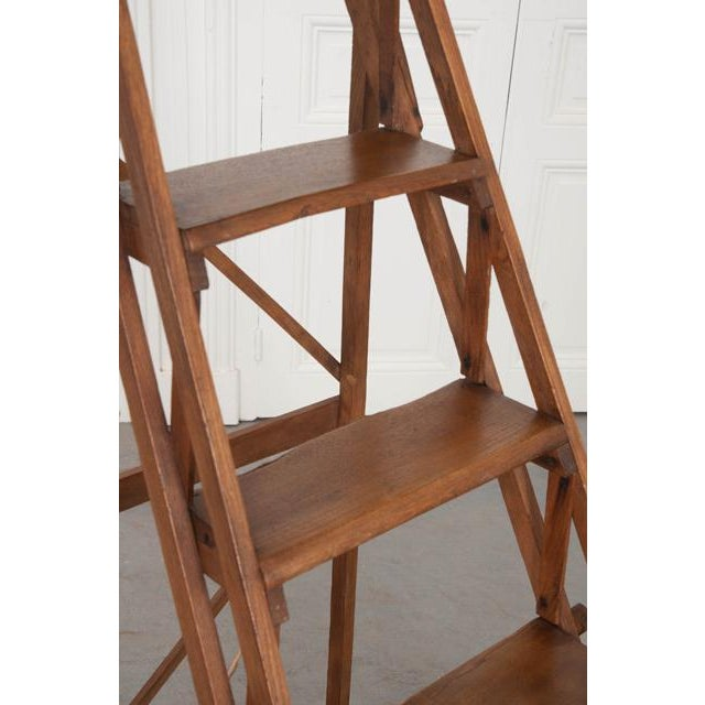 Brown French Early 20th Century Oak Folding Ladder For Sale - Image 8 of 13