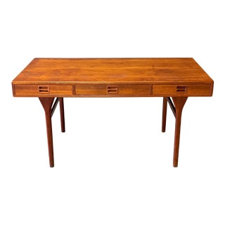 Danish Teak Desk by Nanna Ditzel for Søren Willadsen Møbelfabrik For Sale