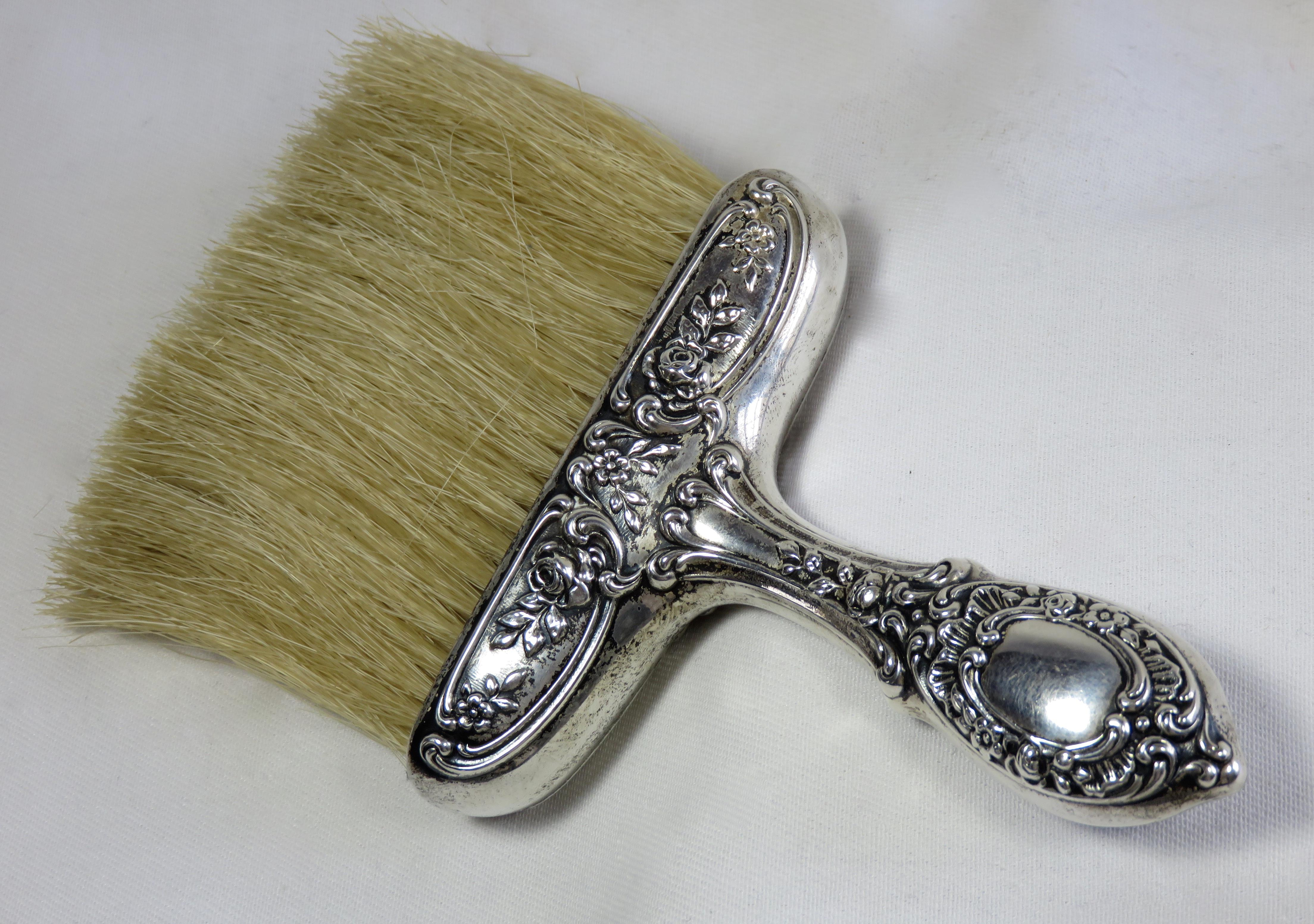 1900s Victorian Sterling Silver Table Crumb Brush For Sale   Image 4