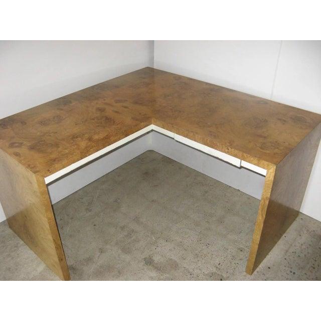 Burl Walnut Desk by Milo Baughman for Thayer Coggin For Sale In Denver - Image 6 of 9