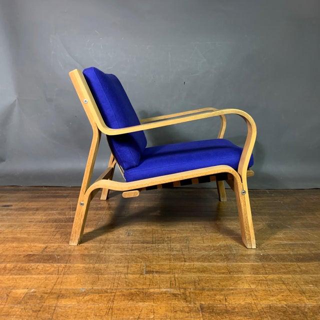 1960s Hans J. Wegner Ge671 Oak & Flag Halyard Lounge Chair, Getama For Sale - Image 5 of 13