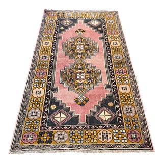 Oushak Distressed Floor Turkish Rug - 3′10″ × 6′10″