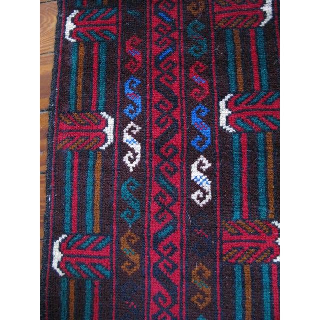 "Hand Made Antique Baluchi Rug - 4' x 6'4"" - Image 6 of 8"