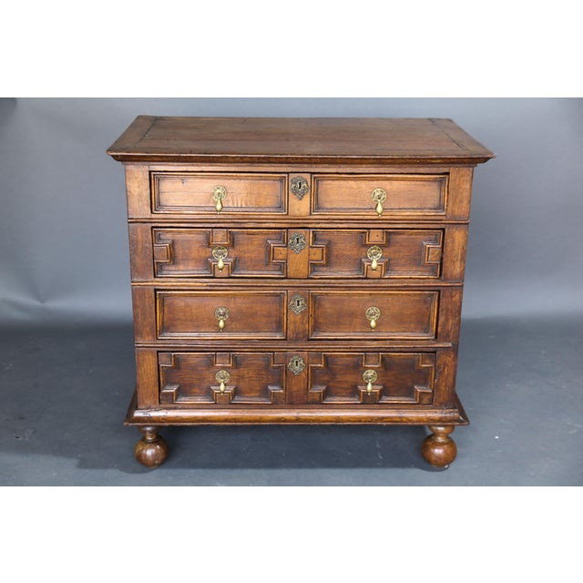 17th Century Oak Jacobean Chest - Image 9 of 9