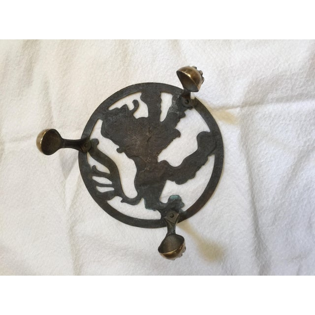 Brass English Brass Lion Trivet For Sale - Image 7 of 7