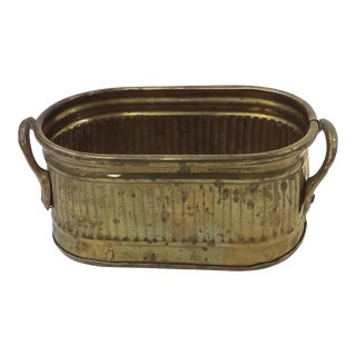 Vintage Miniature Brass Planter