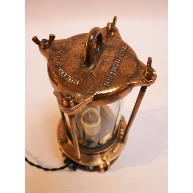 Cast Bronze Industrial Sight Glass Lamp - Image 6 of 10