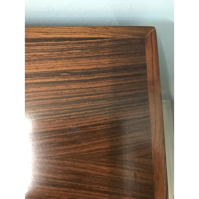 Mid-Century Modern Danish Rosewood Desk Writing Table For Sale In New York - Image 6 of 10
