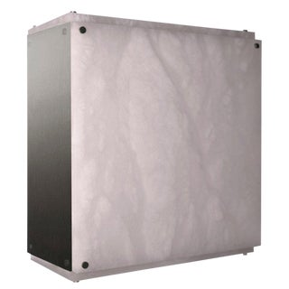 Modern Contemporary 001a-S Flush Mount in Alabaster by Orphan Work For Sale
