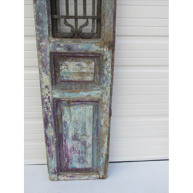 Architectural Mediterranean Door with Iron Grill - Image 7 of 9