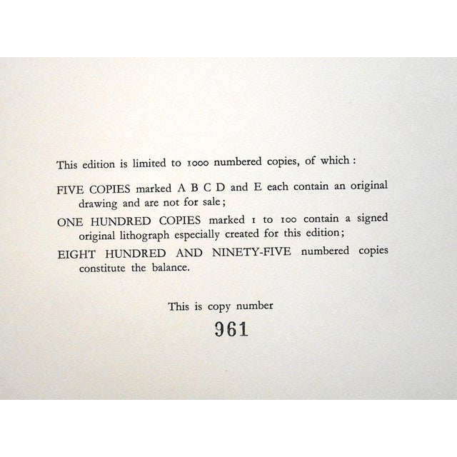 Mid-Century Modern Vintage Mid 20th C. Ltd. Ed. Lithograph-Marcel Vertes c.1961 For Sale - Image 3 of 4