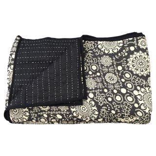 Black & White Indian Cotton Quilt