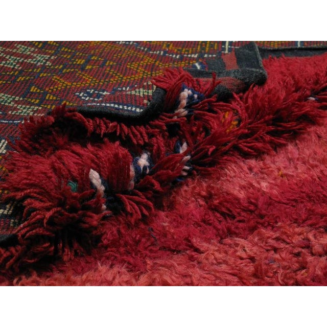 "Red ""Firebird"", Zayan Moroccan Berber Carpet For Sale - Image 8 of 10"