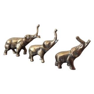 Vintage Brass Elephants - Set of 3