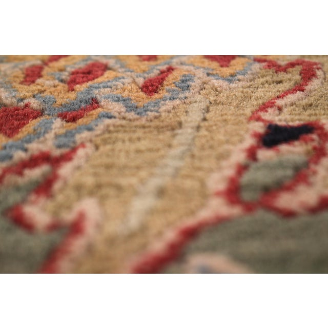 1980s Hand-Knotted Vintage Floral Rug Red Green Pomegranate Pattern Rug by Rug & Kilim For Sale - Image 5 of 7