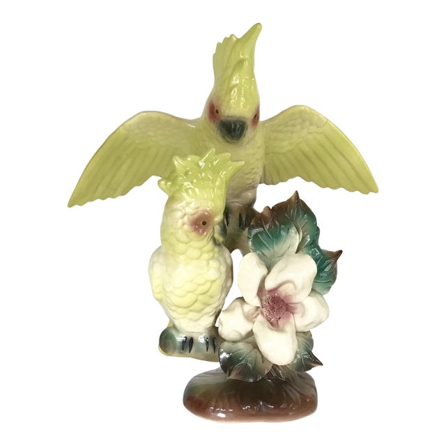 Vintage Citron Cockatoo Statue - Image 1 of 10