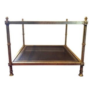 1970s Hollywood Regency Gold Gilt Coffee/Accent Table For Sale