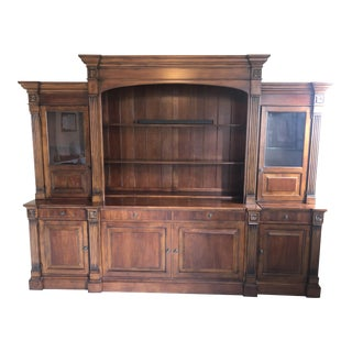 Traditional Ethan Allen Entertainment Center and Display Cases For Sale