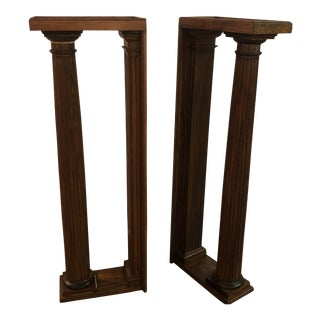 1940s Vintage Pine Columns- A Pair For Sale