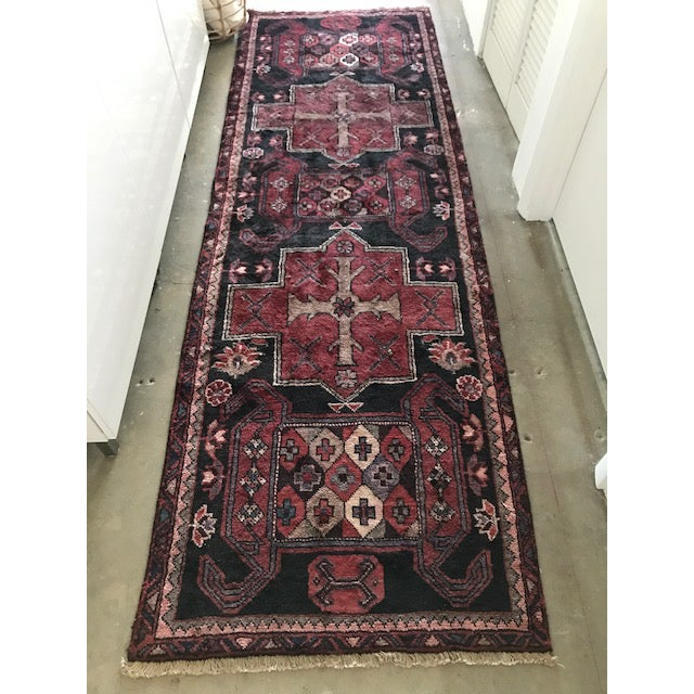 Vintage Persian Area Rug Runner W/ Millennial Pink Accents - Image 2 of 5