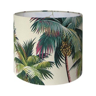 Hawaiian Bark Crepe Tropical Drum Lamp Shade