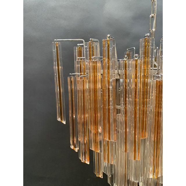 Vintage 1970s Venini Murano Glass Chandelier For Sale - Image 10 of 12