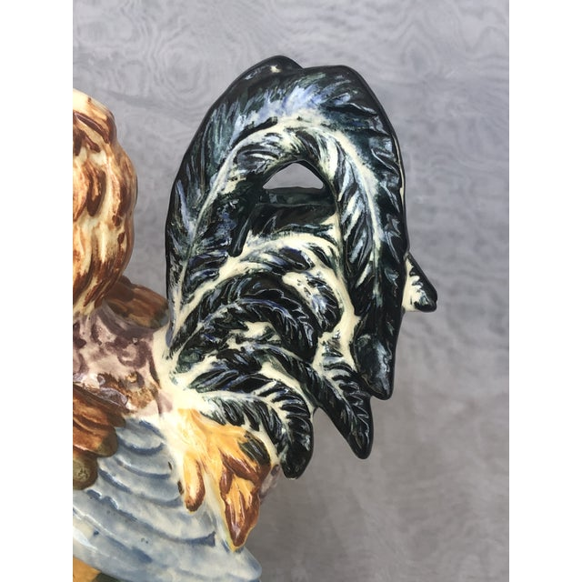 1960s Vintage Farmhouse Ceramic Rooster Figurine For Sale - Image 5 of 13