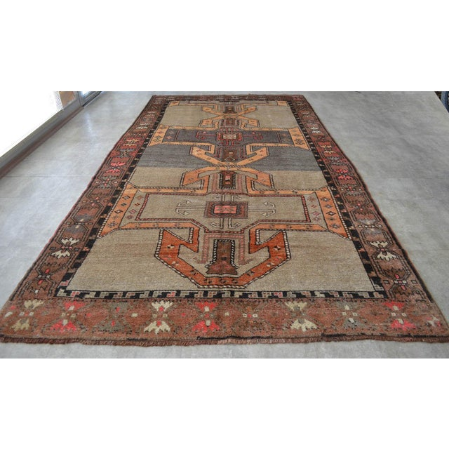6x11 Kilim Rug Kurdish Runner Hand Knotted Full Tribal Design Area Rug - 6′3″ X 11′4″ For Sale - Image 4 of 7