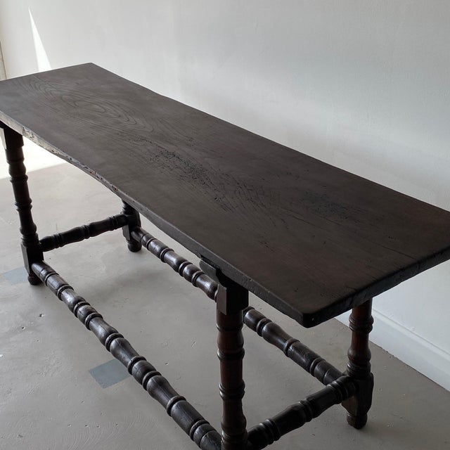 19th Century Extended Dark Italian Console For Sale - Image 9 of 9