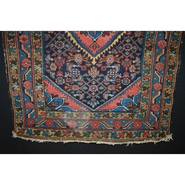 "Vintage Persian Hamadan Rug - 3'4"" x 4'10"" - Image 5 of 6"