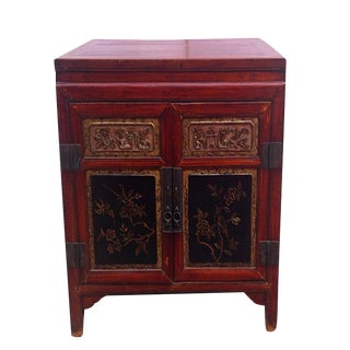 Antique Fujie Chinese Poplar Cabinet