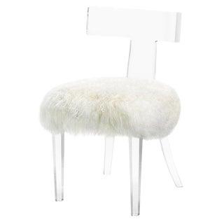 Tristan Klismos Chair - Ivory Sheepskin For Sale
