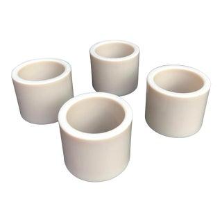 Vintage White Napkin Rings - Set of 4 For Sale