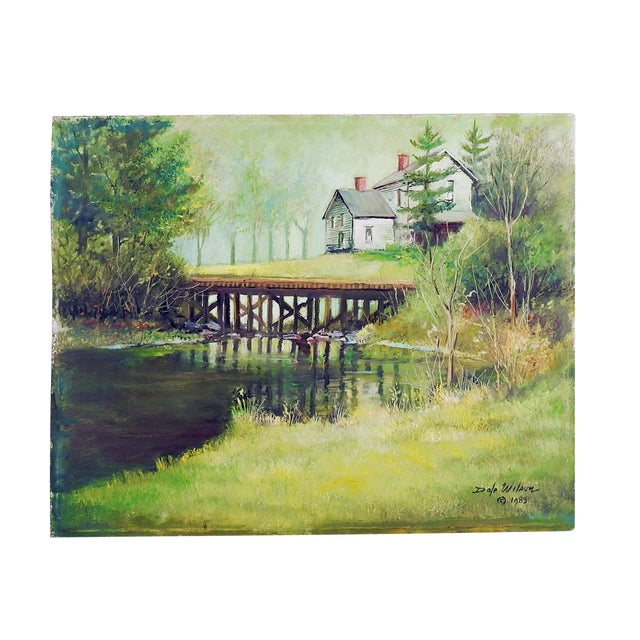 Secluded Homestead Oil Painting For Sale