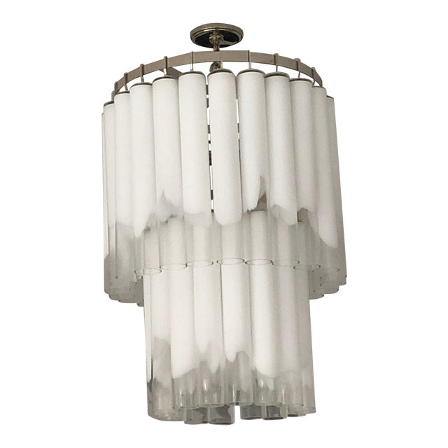 Hudson Valley Lighting Tyrell Multi Tier Polished Nickel Pendant Ceiling Light For Sale