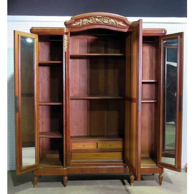 Regency Style Inlaid Armoire For Sale - Image 10 of 13