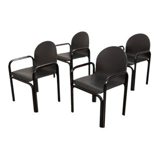 Mid 20th Century Gae Aulenti for Knoll Model 54a Dining Chairs - Set of 4 For Sale