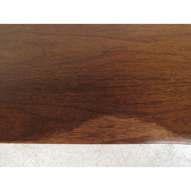 Vintage American Filing Drawer Walnut Desk For Sale - Image 9 of 10